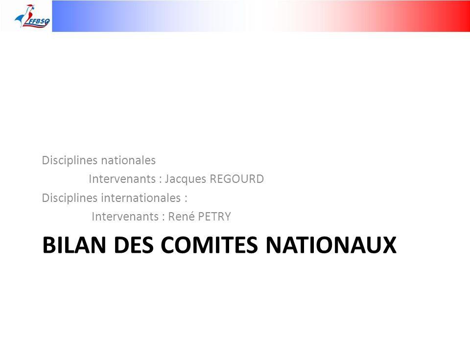 Bilan des comites nationaux