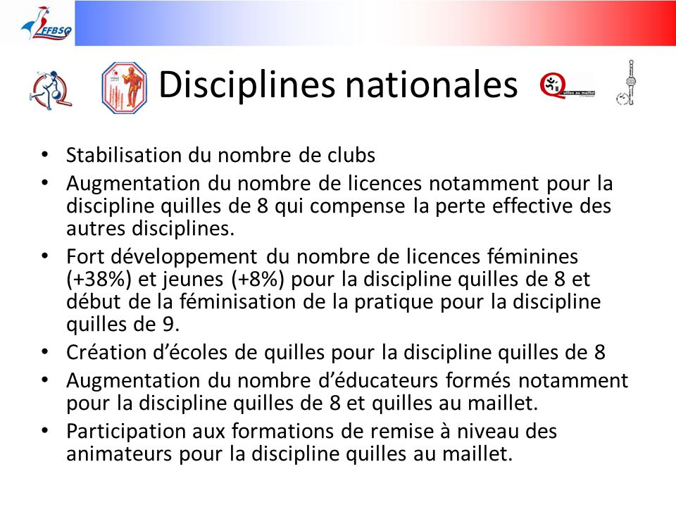 Disciplines nationales
