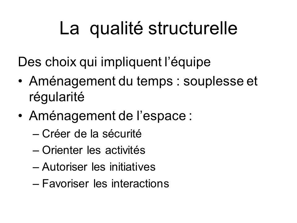 La qualité structurelle