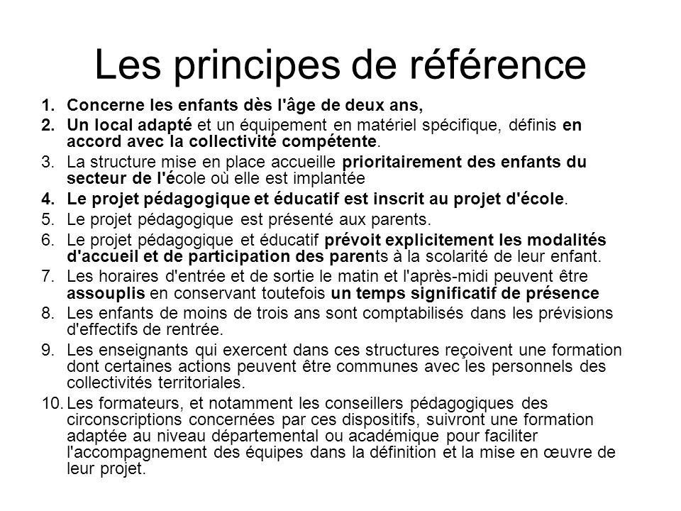 Les principes de référence