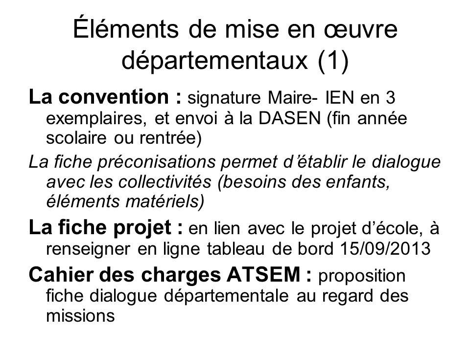 Éléments de mise en œuvre départementaux (1)