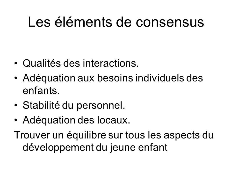 Les éléments de consensus