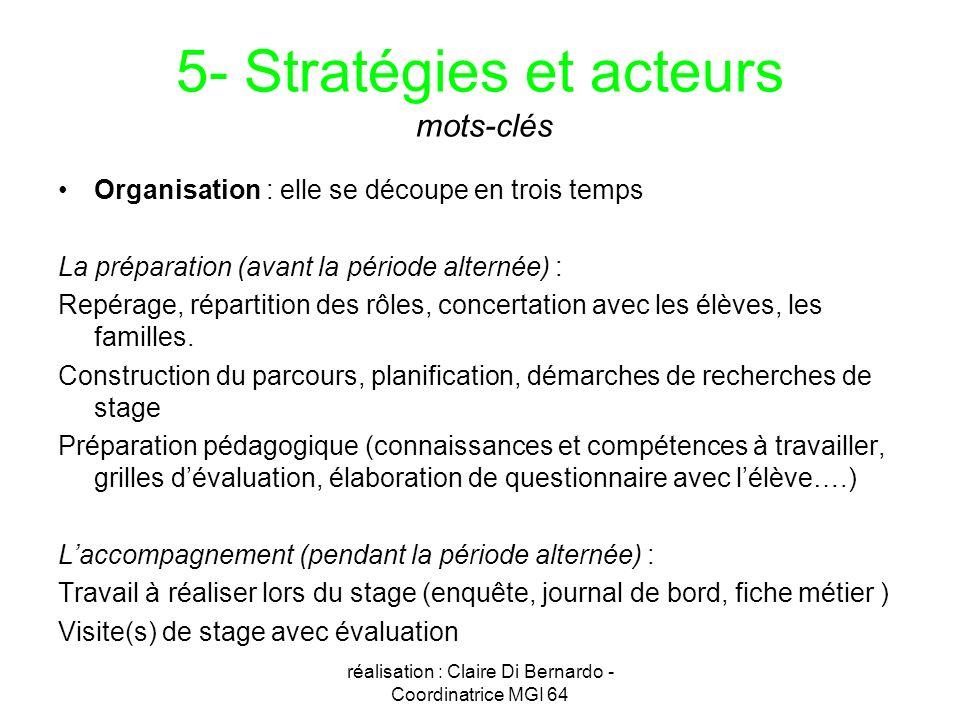 5- Stratégies et acteurs mots-clés