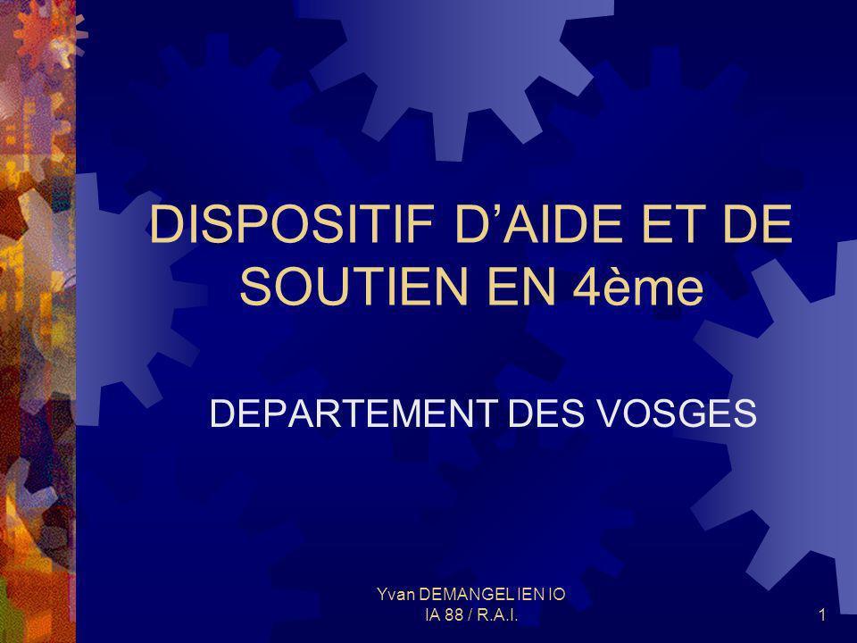 DISPOSITIF D'AIDE ET DE SOUTIEN EN 4ème