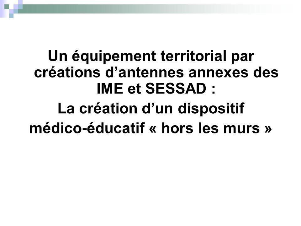 La création d'un dispositif médico-éducatif « hors les murs »