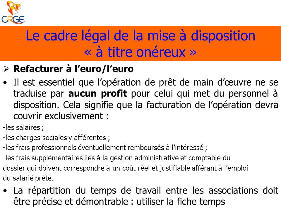 Le cadre légal de la mise à disposition