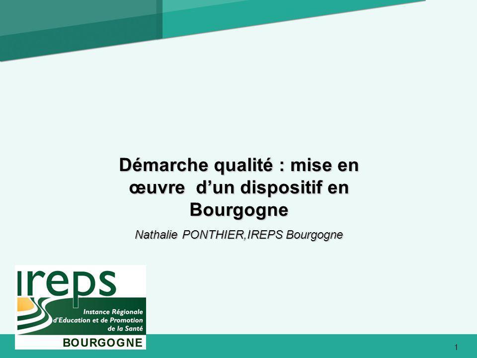 Démarche qualité : mise en œuvre d'un dispositif en Bourgogne
