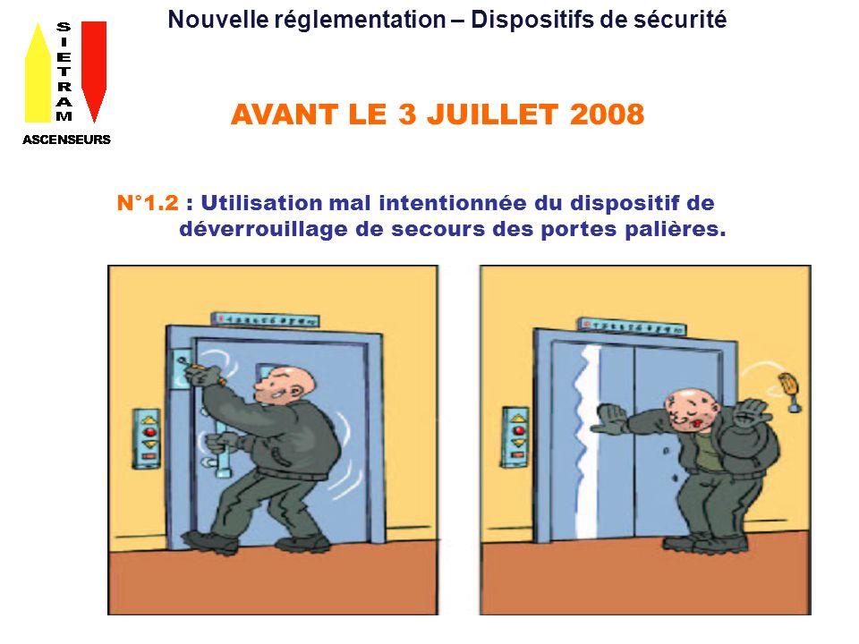 Nouvelle réglementation – Dispositifs de sécurité
