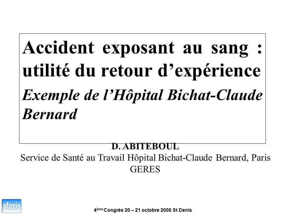 Service de Santé au Travail Hôpital Bichat-Claude Bernard, Paris