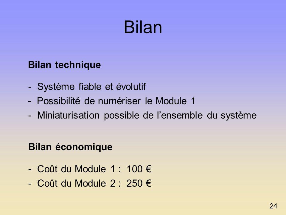 Bilan - Système fiable et évolutif