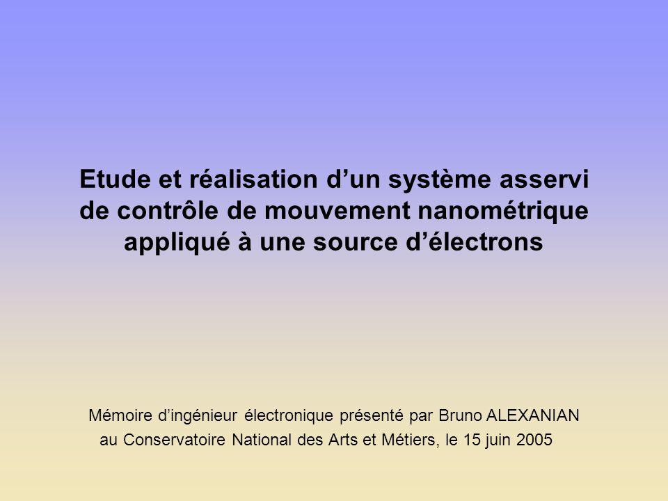 Etude et réalisation d'un système asservi de contrôle de mouvement nanométrique appliqué à une source d'électrons