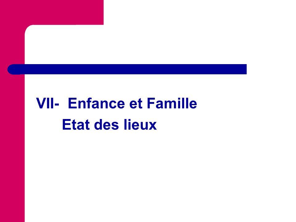 VII- Enfance et Famille
