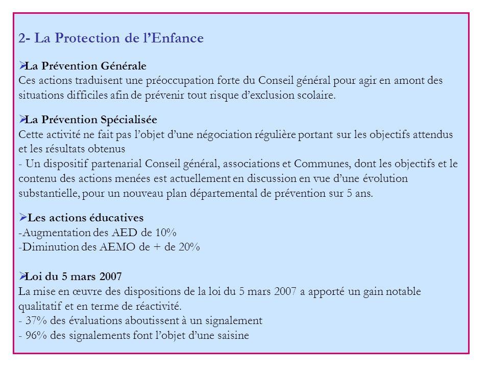 2- La Protection de l'Enfance