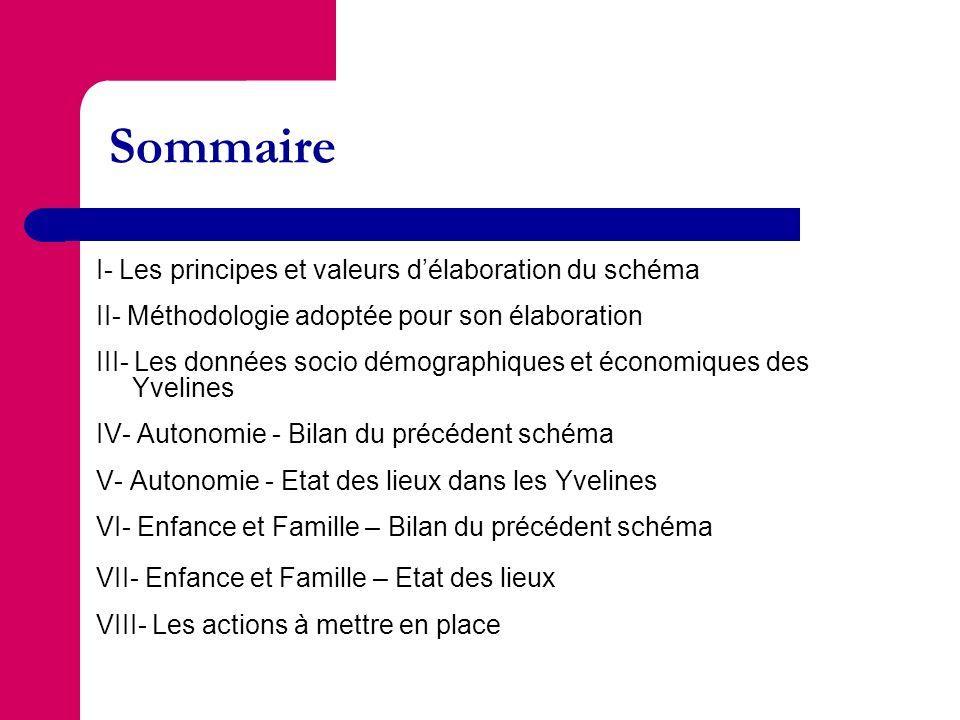 Sommaire I- Les principes et valeurs d'élaboration du schéma