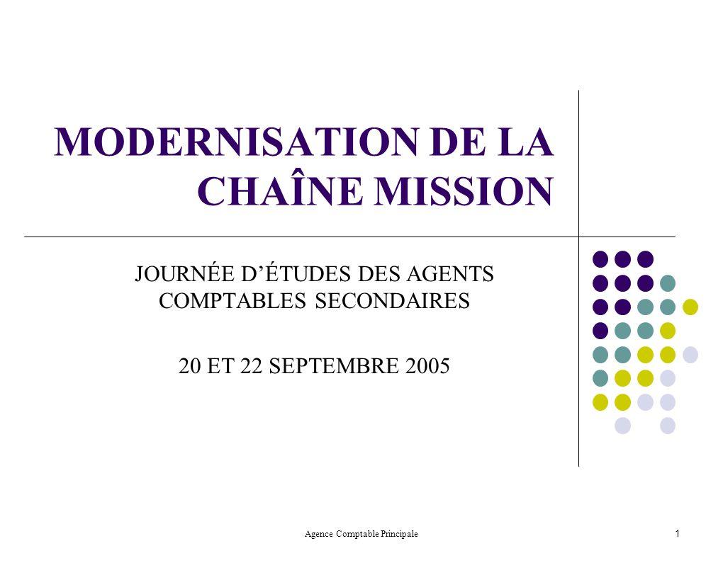 MODERNISATION DE LA CHAÎNE MISSION