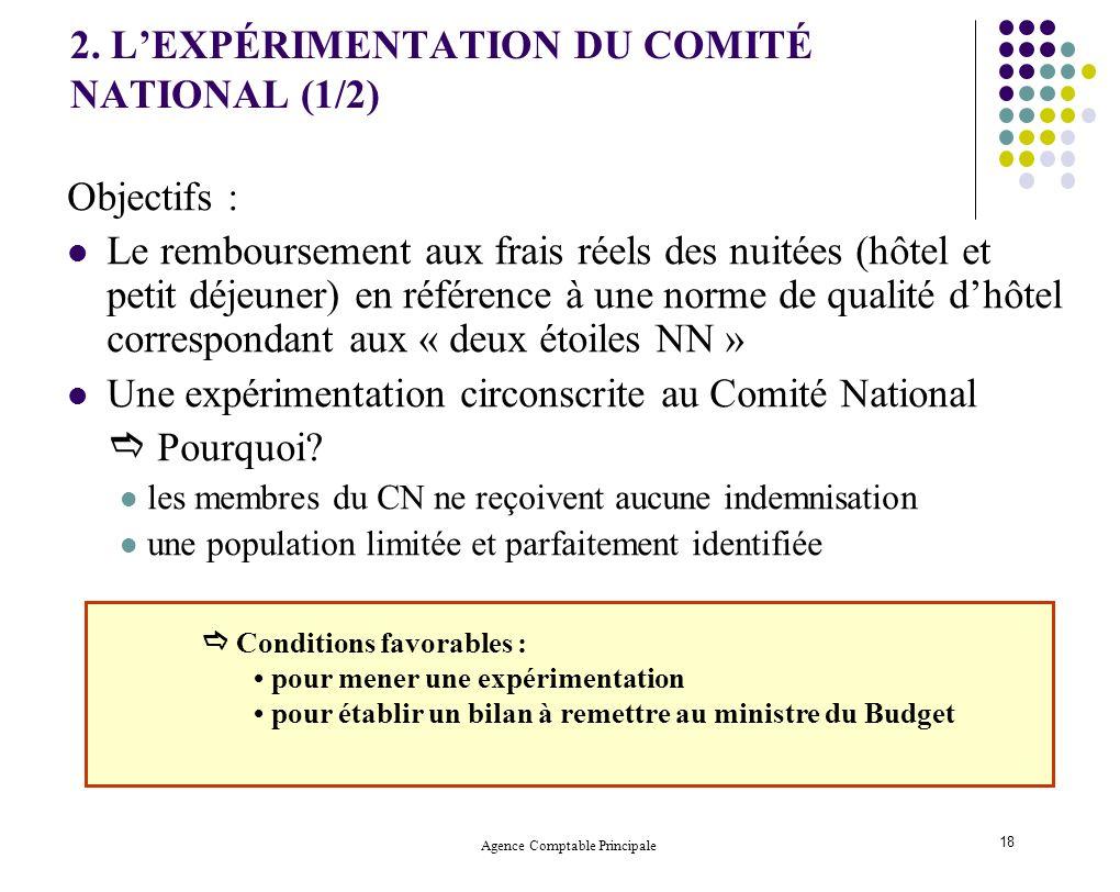 2. L'EXPÉRIMENTATION DU COMITÉ NATIONAL (1/2)