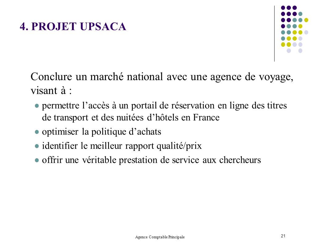 Agence Comptable Principale