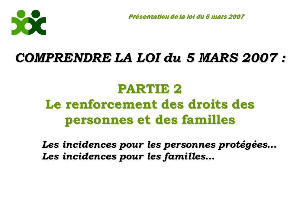 COMPRENDRE LA LOI du 5 MARS 2007 : PARTIE 2