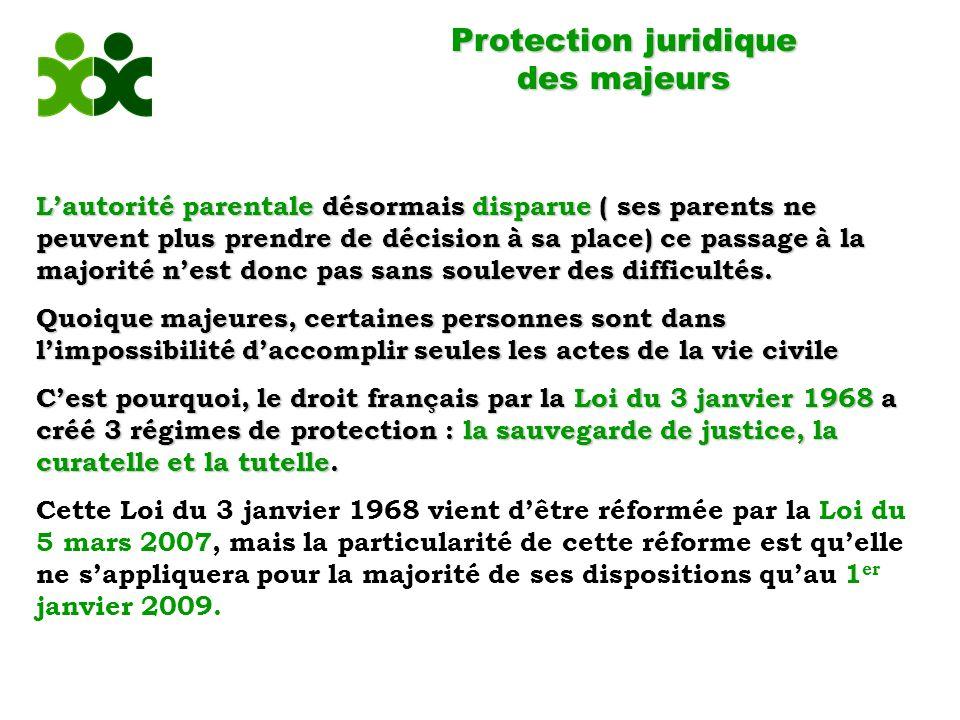 Protection juridique des majeurs