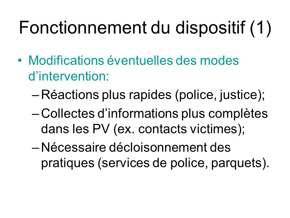 Fonctionnement du dispositif (1)