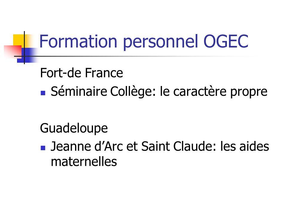 Formation personnel OGEC