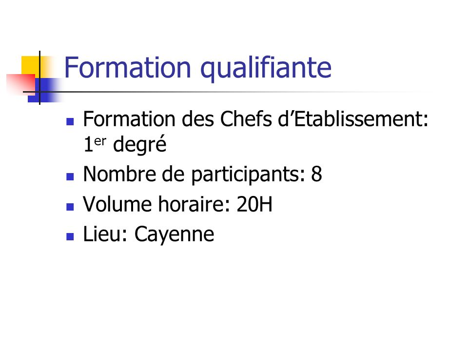 Formation qualifiante