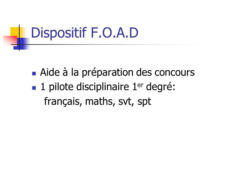 Dispositif F.O.A.D Aide à la préparation des concours
