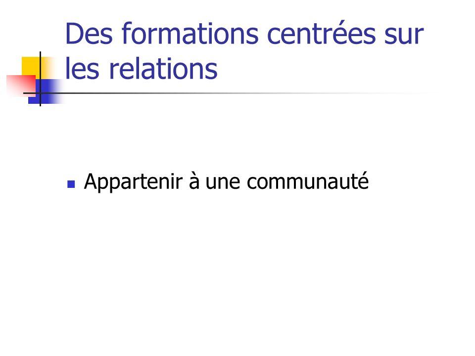 Des formations centrées sur les relations