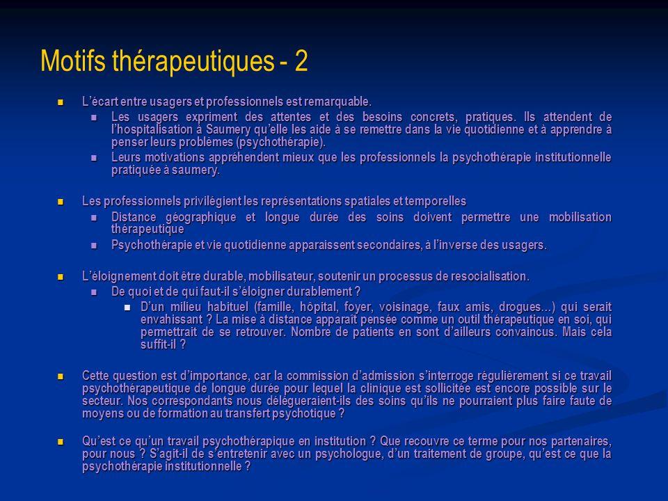 Motifs thérapeutiques - 2