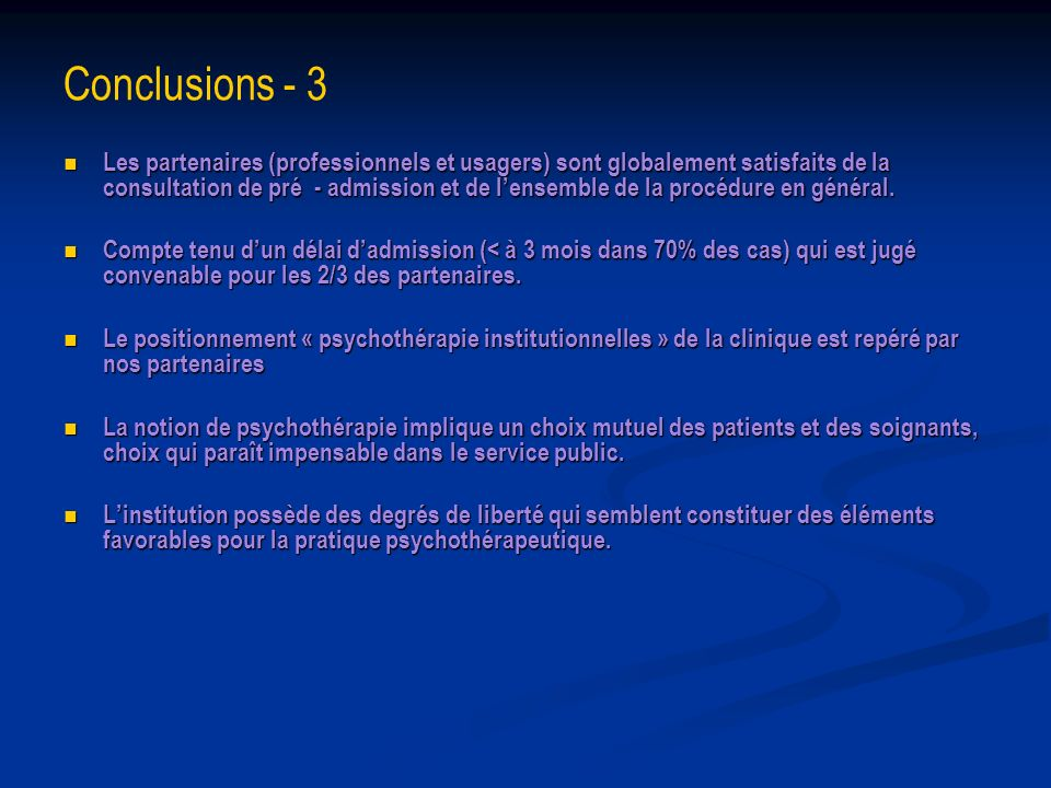 Conclusions - 3