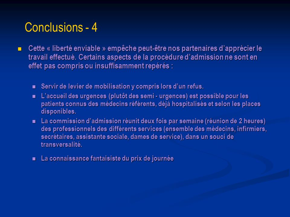 Conclusions - 4