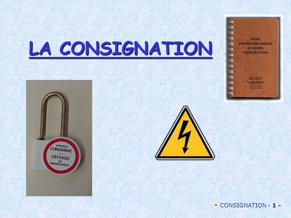 LA CONSIGNATION