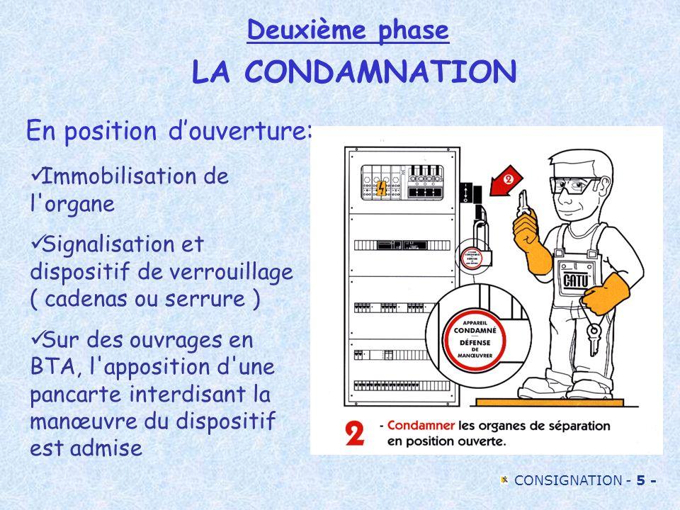 Deuxième phase LA CONDAMNATION