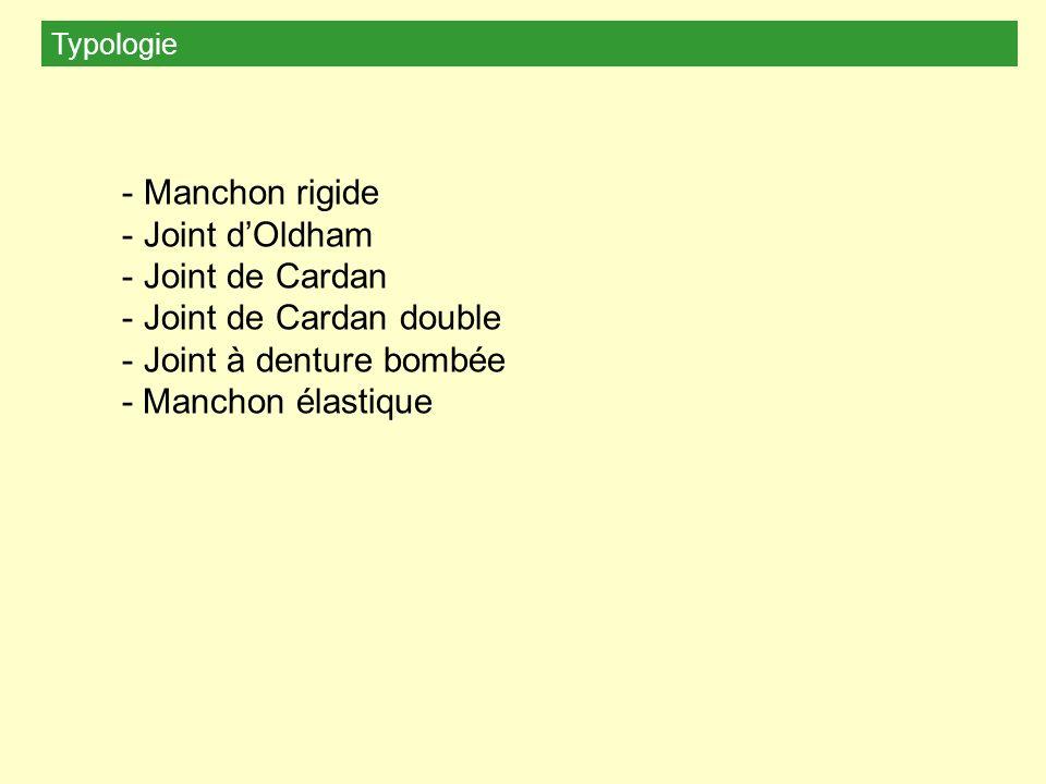 Manchon rigide Joint d'Oldham Joint de Cardan Joint de Cardan double