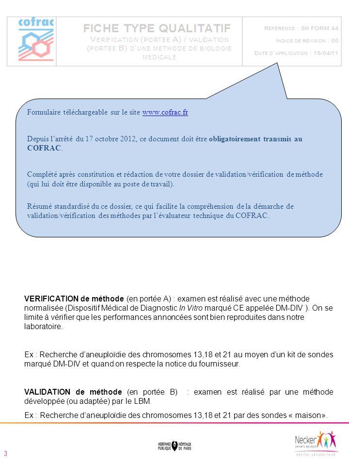 Formulaire téléchargeable sur le site www.cofrac.fr