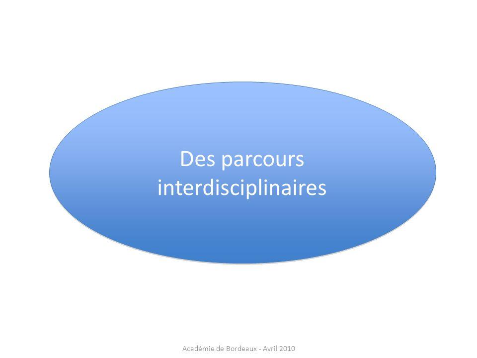 Des parcours interdisciplinaires