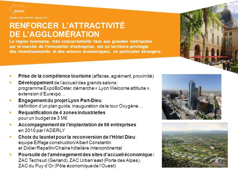 RENFORCER L'ATTRACTIVITÉ DE L'AGGLOMÉRATION