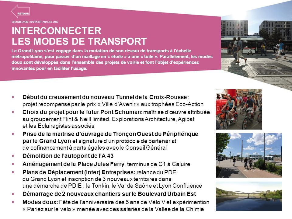 INTERCONNECTER LES MODES DE TRANSPORT