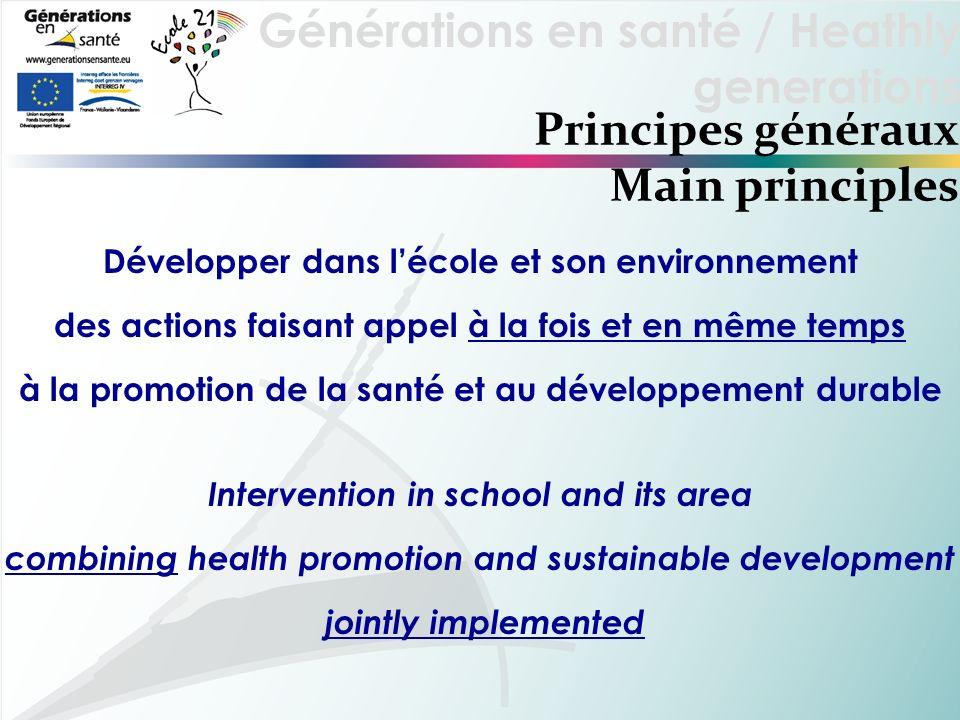 Principes généraux Main principles