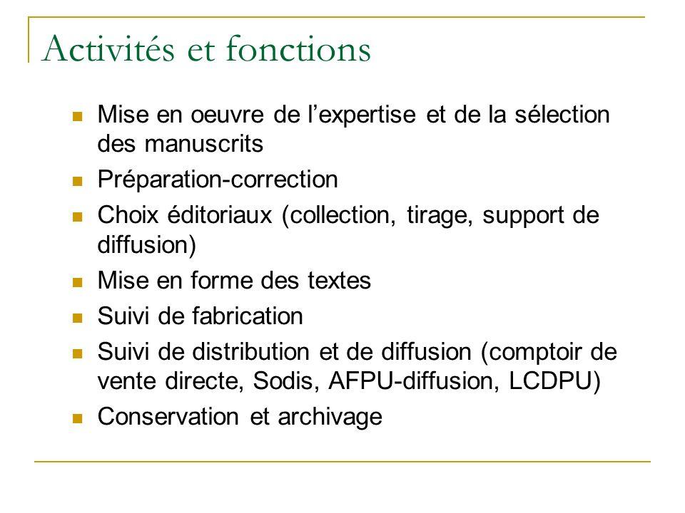 Activités et fonctions