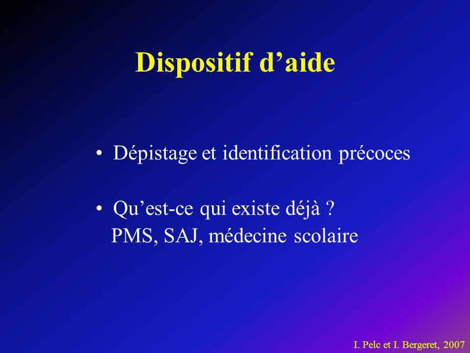 Dispositif d'aide Dépistage et identification précoces