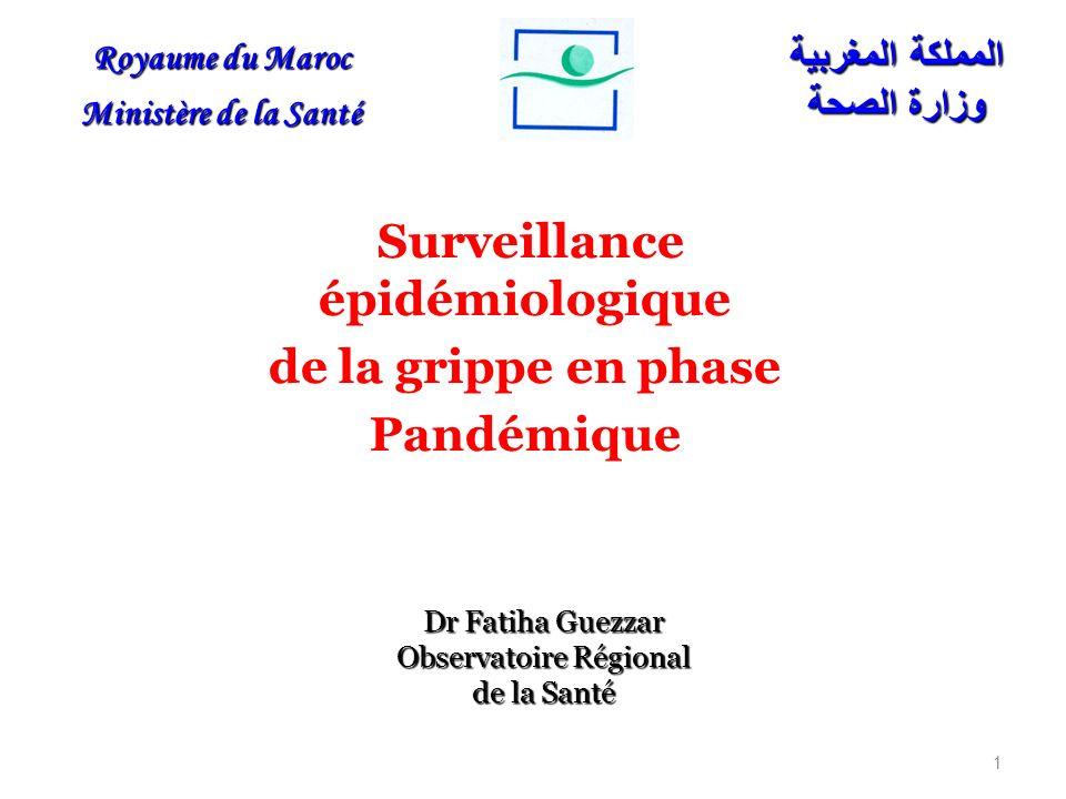 Surveillance épidémiologique de la grippe en phase Pandémique