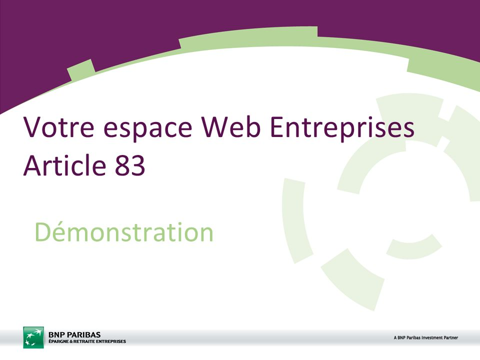 Votre espace Web Entreprises Article 83