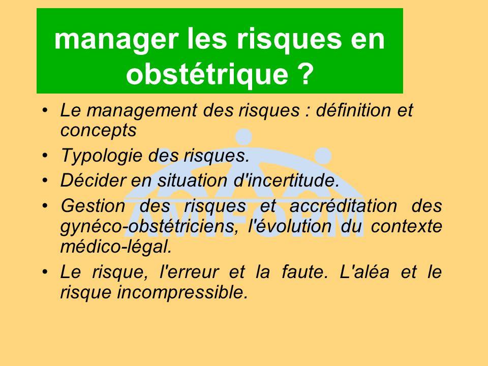 manager les risques en obstétrique
