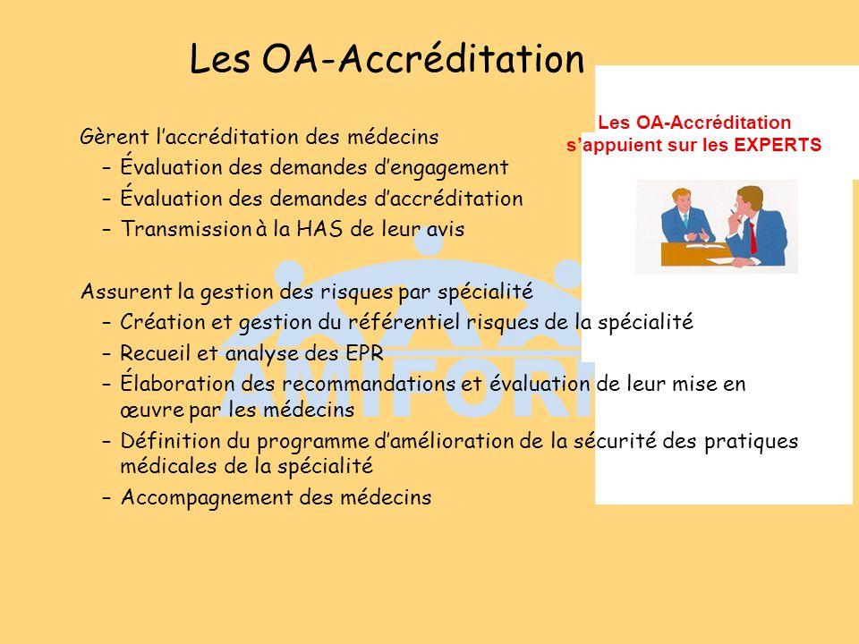 Les OA-Accréditation s'appuient sur les EXPERTS
