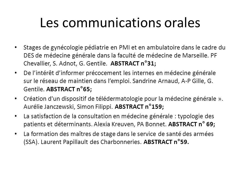 Les communications orales