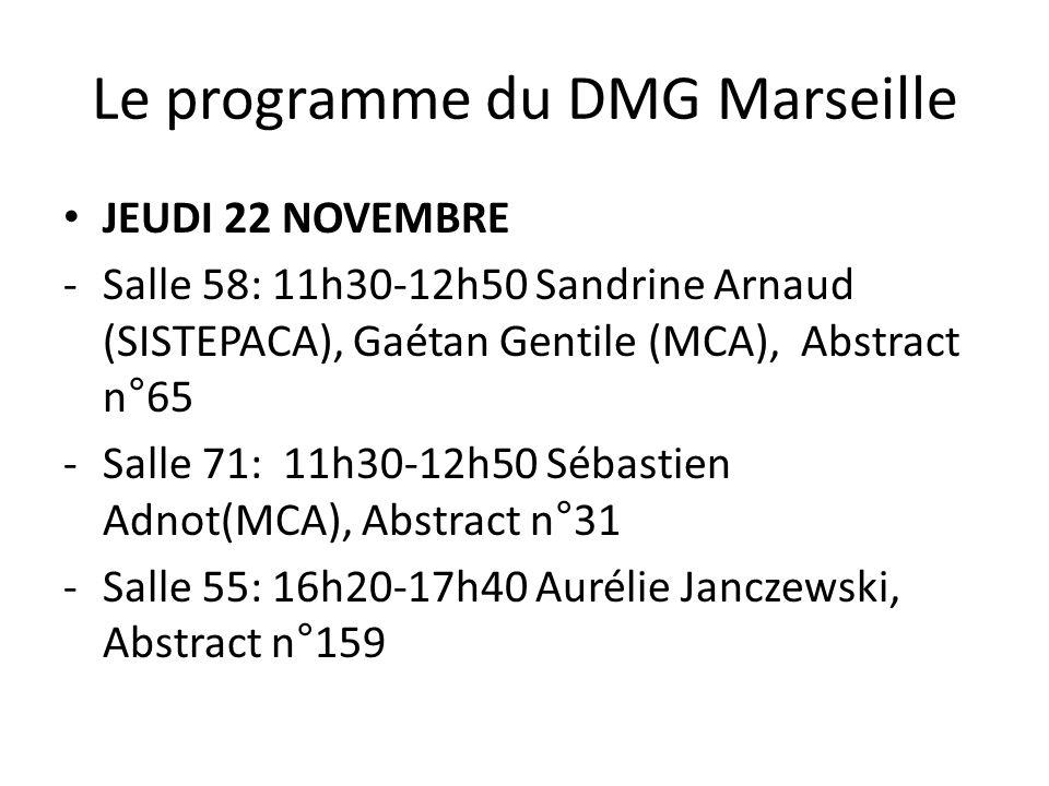 Le programme du DMG Marseille