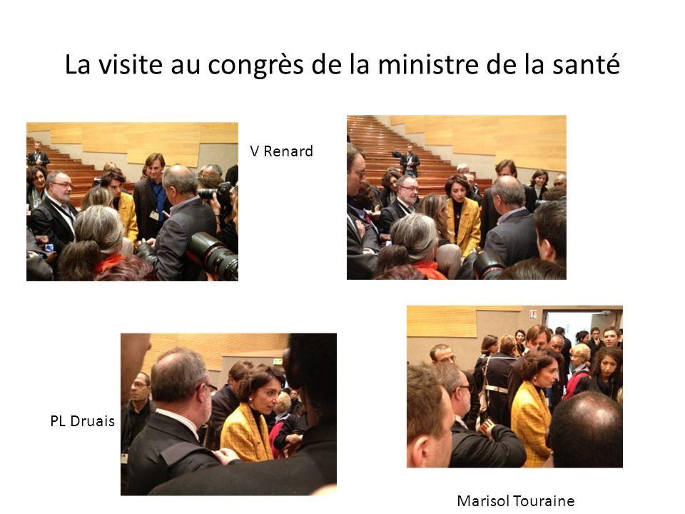 La visite au congrès de la ministre de la santé