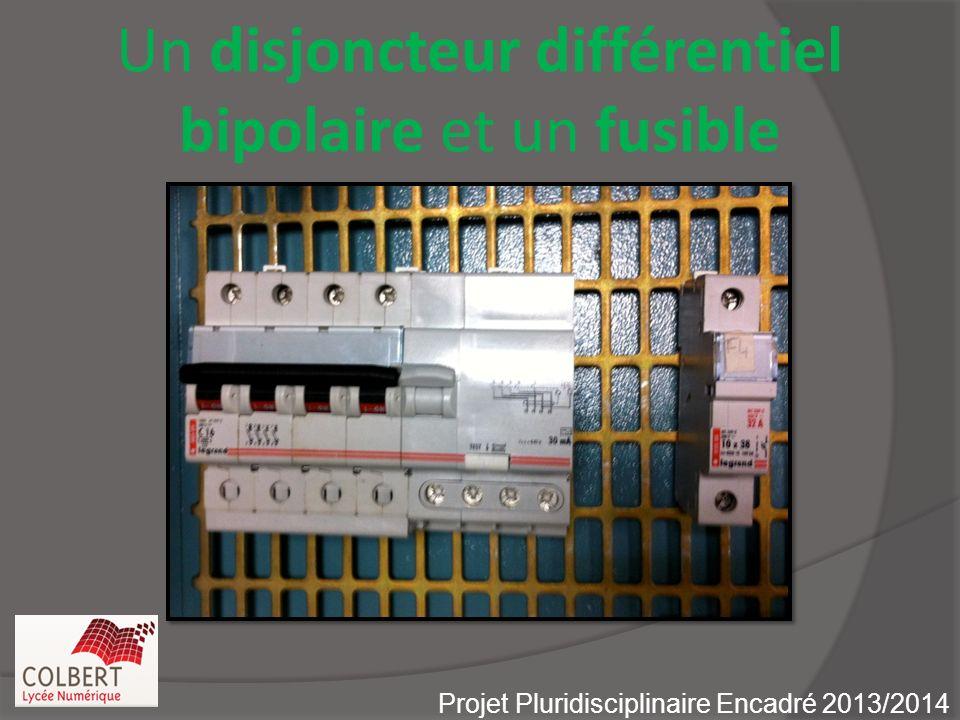 Un disjoncteur différentiel bipolaire et un fusible