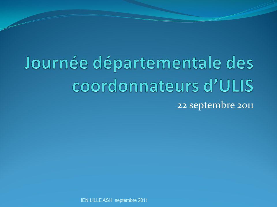 Journée départementale des coordonnateurs d'ULIS
